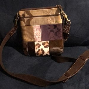 Coach Patchwork Animal Print Leather Crossbody
